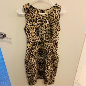 ZARA Cheetah Print Sleeveless Sheath Dress
